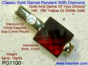 Garnet Pendant Custom Made