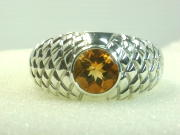 Mens Citrine Gold Or Silver Ring