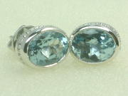 Gold Aquamarine Gemstone Earring