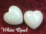 White Opal For Opal Claddagh Ring