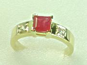 Ruby Band Gold Ring